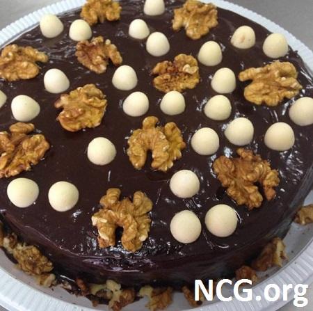 Bolo de chocolate com nozes sem glúten - Curso de culinária sem glúten em Moóca (SP) Cucina Não Contém Glúten
