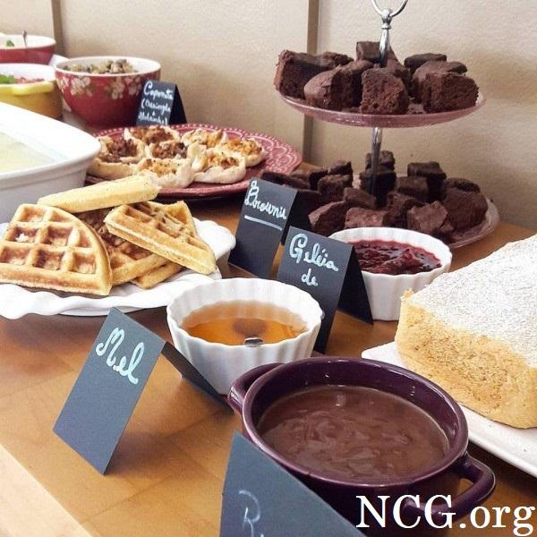 Mesa de café da tarde sem gluten e sem leite - Padaria sem gluten e sem lactose em Brasília (DF) Komboleria - Não Contém Gluten
