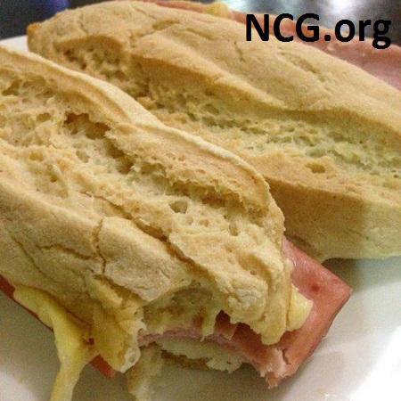 Pão com presunto e queijo sem gluten - Padaria sem gluten em Grajaú (RJ) Delícias da Rafa - Não Contém Gluten