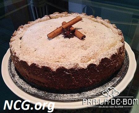 Torta de maçã sem gluten e lactose - Loja de bolo sem gluten e lactose em São Paulo (SP) PRA LÁ De BOM - Não Contém Gluten