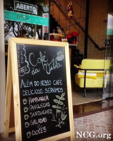 Lousa sem gluten - Cafeteria sem gluten e lactose em Curitiba (PR) Café da Villa - Não Contém Gluten