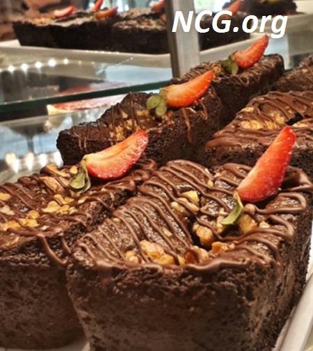 Brownie de chocolate com nozes sem glúten Restaurante sem glúten em Pinheiros (SP) Pandan Não Contém Glúten