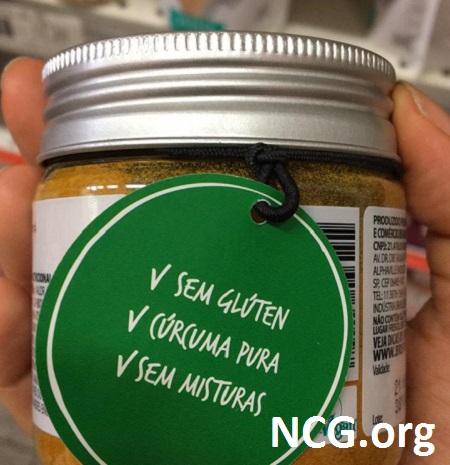 Cúrcuma em pó sem glúten – tempero sem glúten e sem contaminação cruzada: BR Spices – Não Contém Glúten