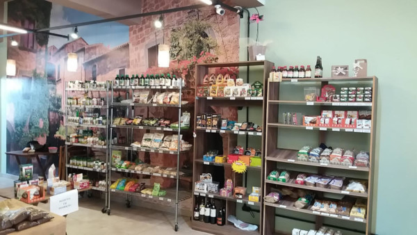 Loja de produto natural sem glúten em Tucuruvi (SP) Armazem Francesco, interior da loja