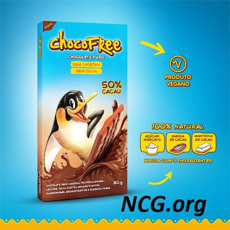 Tablete de chocolate 50% cacau sem gluten - Chocolate ChocoFree tem gluten ?? Veja a resposta do SAC - Não Contém Gluten