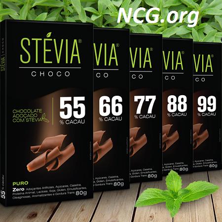 Tabletes de chocolate sem gluten - Chocolate Stévia Choco tem gluten ?? Veja aqui a resposta do SAC - Nao Contem Gluten