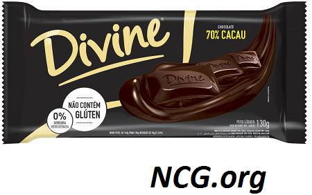 Barra de chocolate 70% cacau sem gluten - Chocolate Divine tem gluten ?? Veja a resposta do SAC - Não Contém Gluten