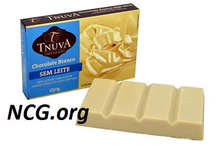 Chocolate branco sem gluten e sem leite - chocolate Tnuva tem gluten ?? Veja a resposta do SAC - Não Contém Gluten