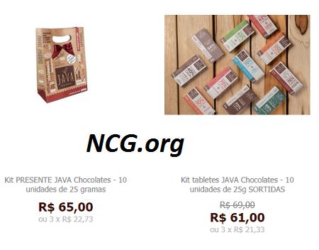 Chocolates kit presente sem gluten - Java Chocolates sem gluten, sem leite e livre de contaminação cruzada - Não Contém Gluten