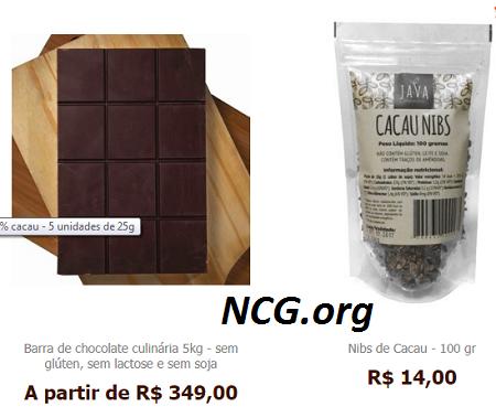 Barra de chocolate culinária 5kg sem gluten - Java Chocolates sem gluten, sem leite e livre de contaminação cruzada - Não Contém Gluten