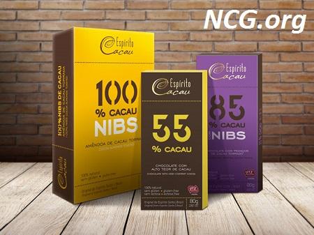 Chocolate sem gluten 55% à 100% cacau - Chocolate Espírito Cacau tem gluten ? Explicação do SAC - Não Contém Gluten
