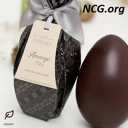 Ovo de páscoa 70% cacau sem gluten e sem lactose - Lista de ovo de páscoa sem gluten - NaoContemGluten.ORG