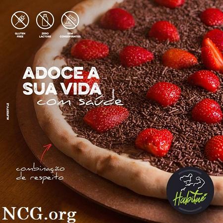 Pizza doce sem gluten - Pizzaria sem gluten em Rio de Janeiro (RJ) Habitué Fit - Não Contém Gluten