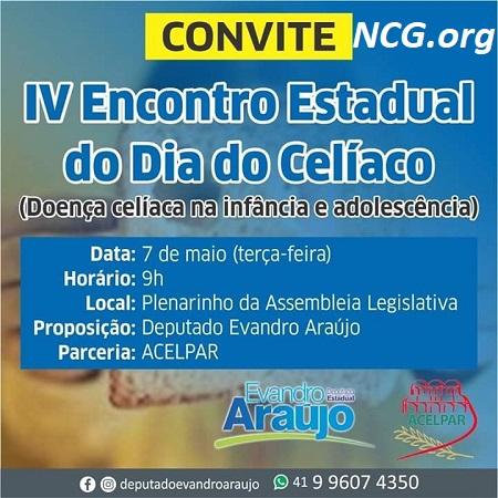 Eventos do mês da conscientização da doença celíaca - Paraná PR - NaoContemGluten.ORG