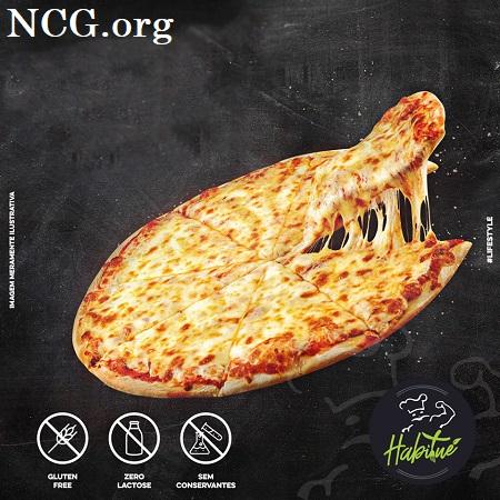 Pizza mussarela sem gluten - Pizzaria sem gluten em Rio de Janeiro (RJ) Habitué Fit - Não Contém Gluten