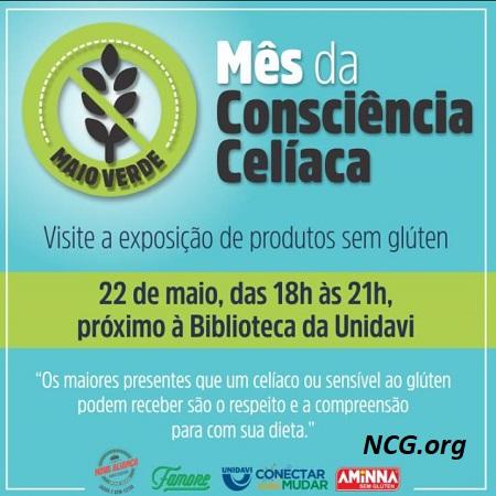 Eventos do mês da conscientização da doença celíaca - Rio do Sul - SC - NaoContemGluten.ORG
