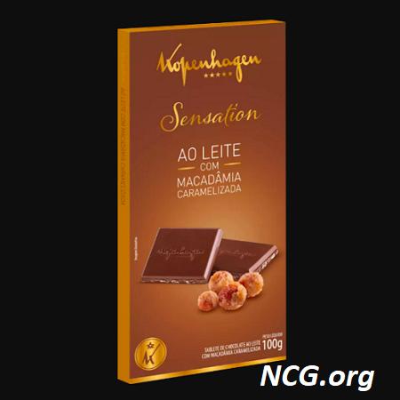 Barra de chocolate ao leite sem gluten - Chocolate Kopenhagen tem gluten ? Veja aqui a resposta do SAC - NaoContemGluten.ORG