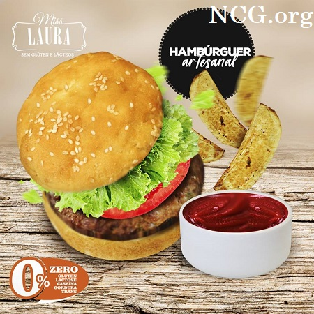 Hambúrguer sem gluten - Restaurante sem gluten em Foz do Iguaçu (PR) Miss Laura - Não Contém Gluten