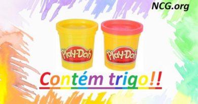 massinha Play Doh tem trigo em sua composição !!