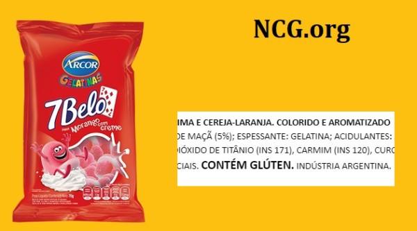 Balas de gelatina Arcor contém gluten ? Resposta do SAC