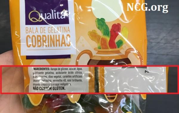 Balas de gelatina Qualita contém gluten ? Resposta do SAC