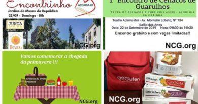3 Eventos sem gluten para celíacos nesse domingo dia 22 de Setembro de 2019
