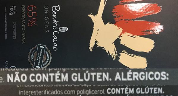 Afinal chocolate Bendito Cacau da Cacau Show tem gluten ou não tem?
