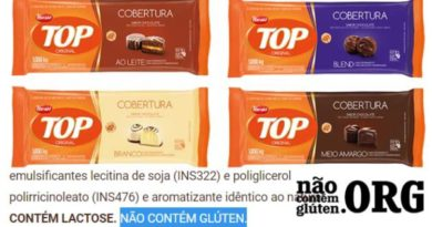 Chocolate Top tem gluten ? Resposta do SAC
