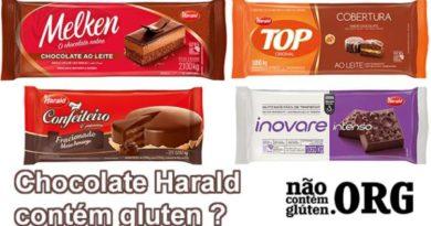 Chocolate Harald contém gluten ? Confira a resposta do SAC