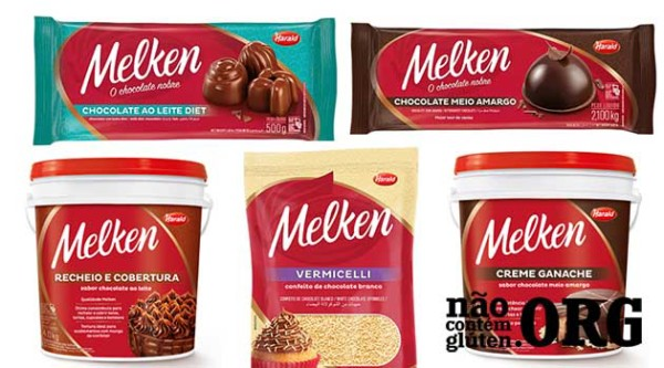 Chocolate Melken contém gluten ? Resposta do SAC