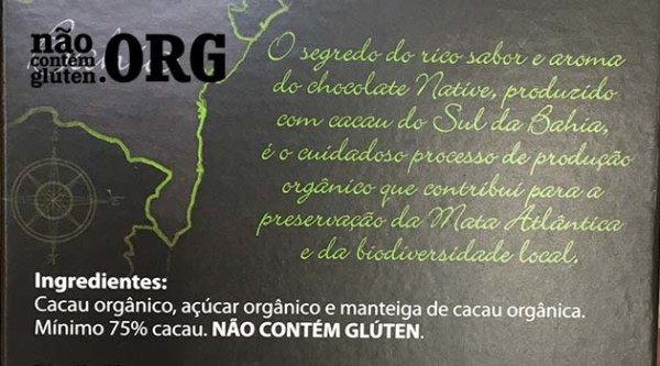 Chocolate Native contém gluten? Resposta do SAC
