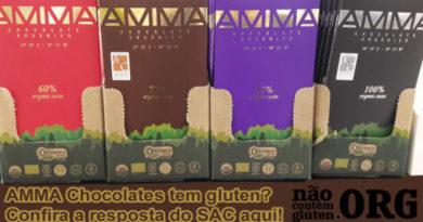 AMMA Chocolate tem gluten? Confira a resposta do SAC aqui!
