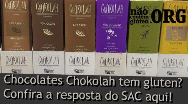 Chocolate Chokolah tem gluten? Confiira a resposta do SAC aqui!