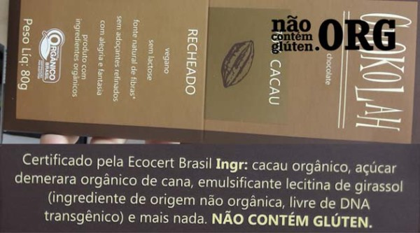Chocolate Chokolah tem gluten? Resposta do SAC
