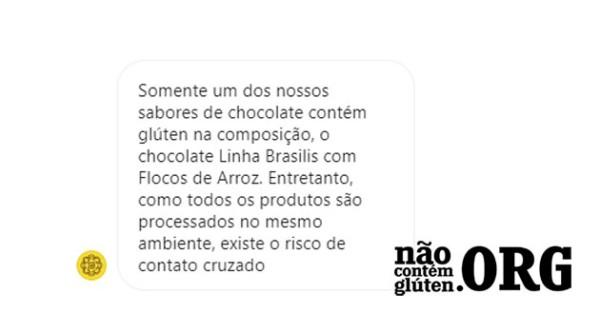 Mendoá Chocolates tem gluten? Resposta do SAC