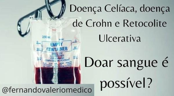 Doença celíaca e doença inflamatória intestinal: posso doar sangue?