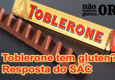 Toblerone tem gluten ? Confira a resposta do SAC