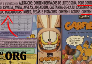 Ovo de chocolate Garfield tem gluten!